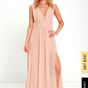 Lulu's Heavenly Hues Blush Maxi Dress
